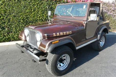 jeep cj5 laredo buy used 1980 jeep cj5 laredo in ventura california
