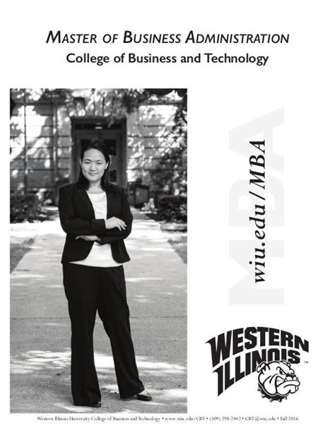 Western Mba Curriculum by Western Illinois Master Of Business