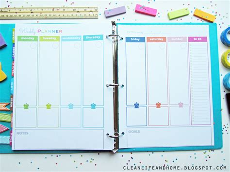 home planner clean life and home the teacher planner