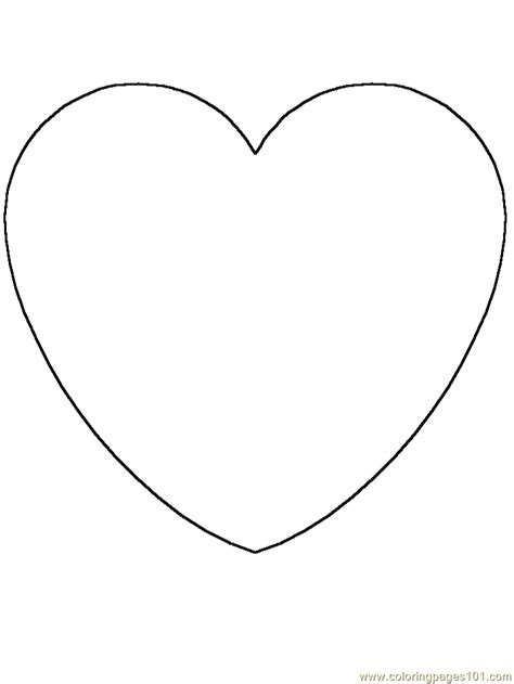 coloring pages heart cartoons gt simple shapes free