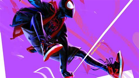 miles morales  spider man   spider verse  artwork superheroes wallpapers spiderman