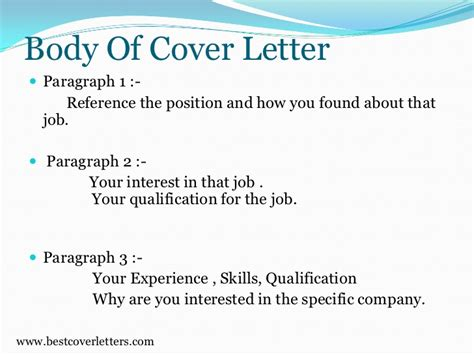 paragraph of a cover letter cover letter sle paragraphs