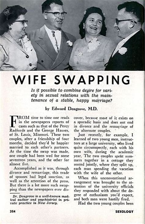 how to get wife to swing wife swapping odd old ads pinterest