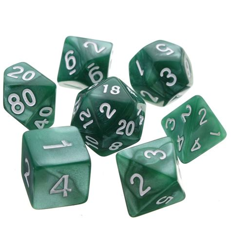 printable d20 dice 7pcs multi sided polyhedral digital acrylic dice set