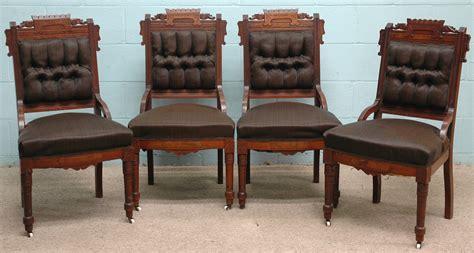 Eastlake Chairs by Furniture Suite Parlor Victorian Eastlake Walnut