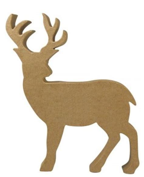Kostenlose Vorlage Hirsch Pappmach 233 Silhouette Hirsch 25x22 5x3 Cm
