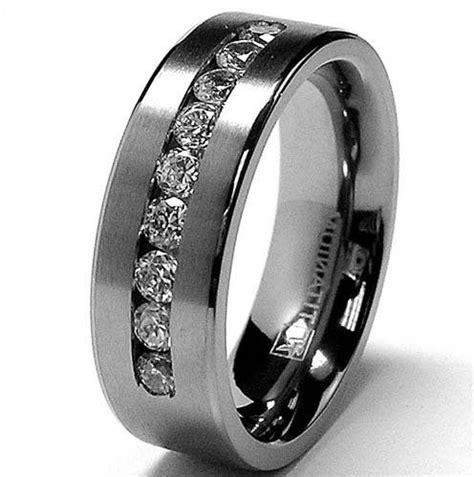 Wedding Bands Black Diamonds by Marvelous Titanium Mens Wedding Bands With Black Diamonds