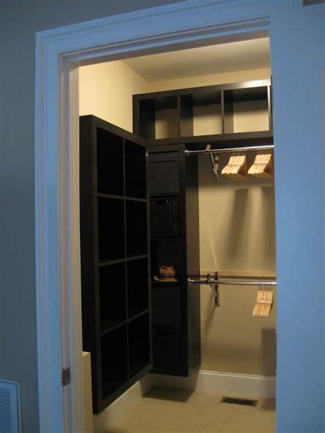 small closet hacks ikea hackers expedit closet small walk in versatile