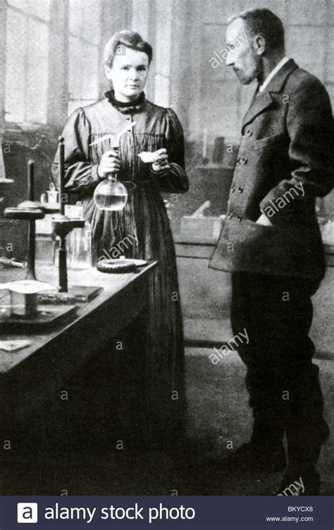 pierre curie marie and pierre curie in their laboratory about 1905