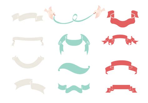 ribbon vector tutorial photoshop ribbon banner brush pack free photoshop brushes at