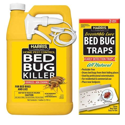 bed bug traps harris 1 gal bed bug killer and bed bug trap value pack