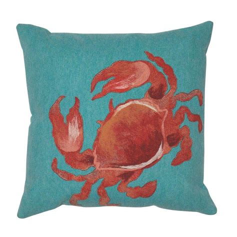 Home Decorators Outdoor Pillows by Home Decorators Collection Sea Creatures Crab Square