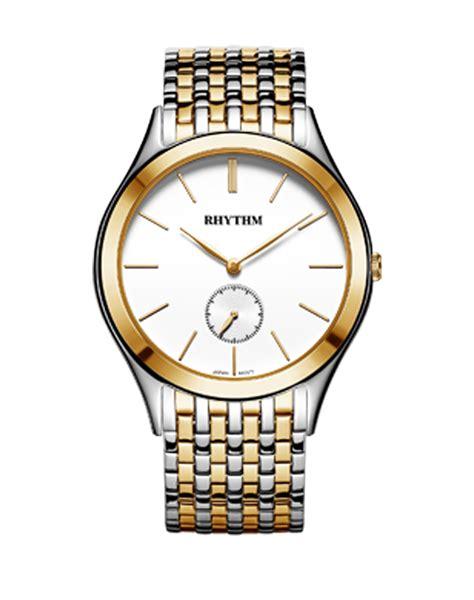 Rhythm Fi1608s 03 Stainless Gold rhythm global timepiece