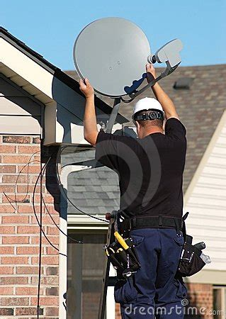 Satellite Dish Technician by Satellite Technician Stock Images Image 6827554