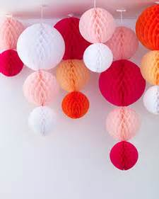 How To Make Paper Hanging Balls - paper hanging globe decorations martha stewart