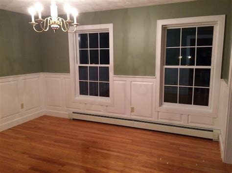 White Wainscoting With Wood Trim Raised Panel Wainscoting Homeadvisor