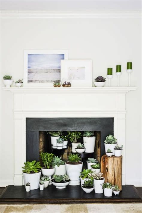 fireplace ideas no fire 18 ways to dress up your fireplace no fire necessary