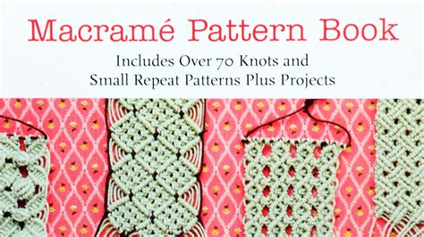 Macrame Pattern Books - macram 233 pattern book includes 70 knots and small