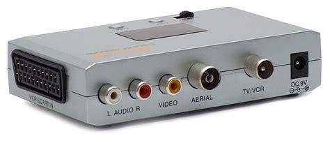 rf modulator rca av scart converter to rf aerial hd