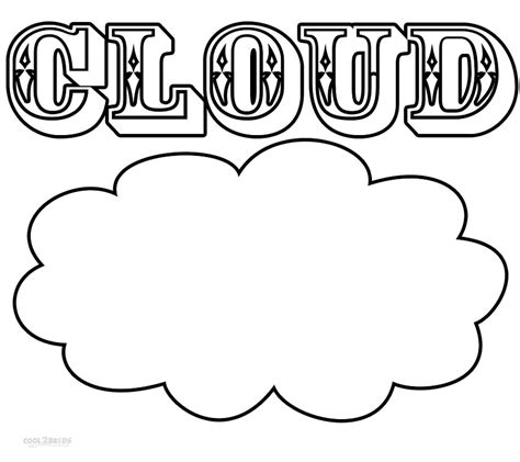 cloud coloring page printable cloud coloring pages for cool2bkids