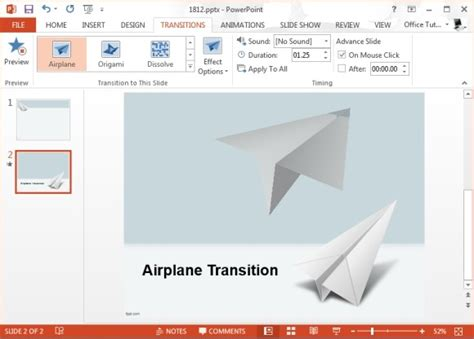 Best Powerpoint Transition Effects For Travel Presentations After Effects Airplane Template