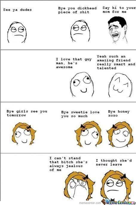 Girl Boy Meme - boys friendship vs girls friendship by wolfheart21 meme