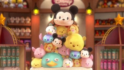 Gamis Tsum Tsum Pink adorable disney tsum tsum plush and app arrive in the u s