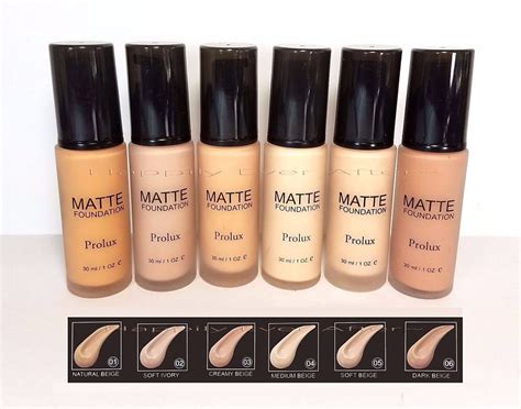 Makeover Liquid Foundation matte makeup foundation prolux cosmetic available in 6