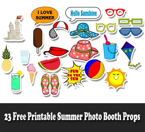 printable photo booth props summer 700 free printable photo booth props