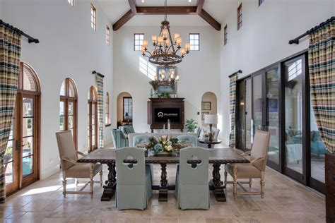 designer dining room chairs with mediterranean beamed