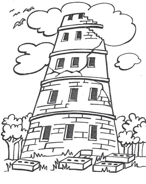 coloring page for tower of babel the tower of babel coloring pages vbs pinterest