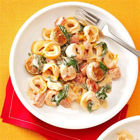 creamy tomato tortellini with sausage recipe taste of home