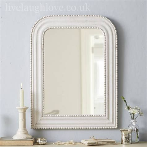 15 best of large white shabby chic mirrors