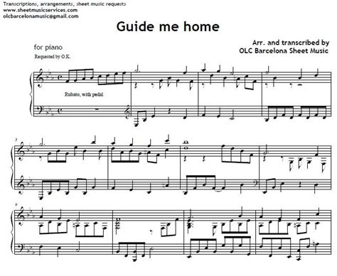 guide me home piano arrengement my sheet