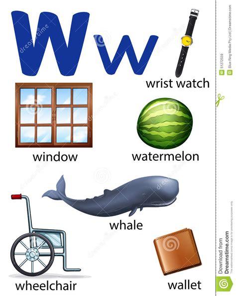 imagenes que empiecen con la letra w en español cosas que comienzan con la letra w ilustraci 243 n del vector