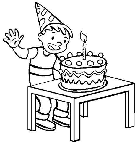 coloring happy birthday cakes candles pages happy birthday cake with single candle coloring page for