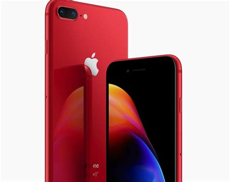 Dus Iphone 8 Plus iphone 8 en 8 plus rood met zwart frontje product nu