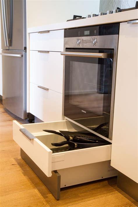 under cabinet drawers kitchen integrated kickboard drawer drawer under oven white