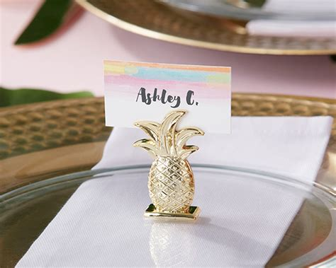 black and white wedding place card holders gold pineapple place card holder set of 6 my wedding