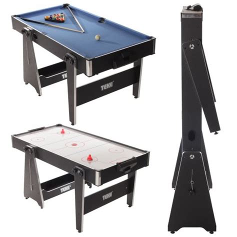 Folding Air Hockey Table Tekscore 5 Foot Folding Leg Multi Table Liberty