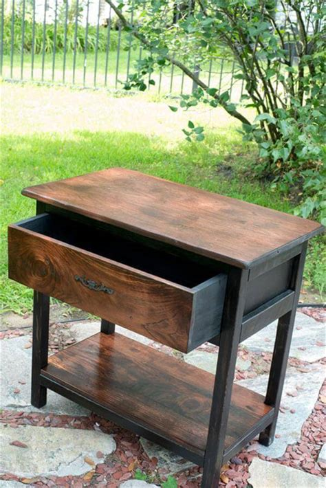 diy rustic sofa table diy rustic pallet nightstand sofa table pallet