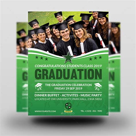 graduation flyer template graduation flyer template by owpictures graphicriver