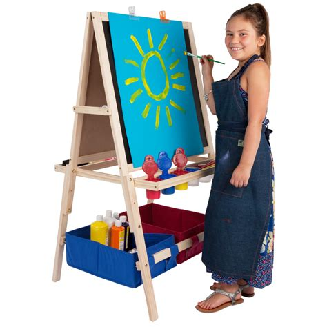 easel for toddlers kids art easel wooden easel with storage bins jerrysartarama com