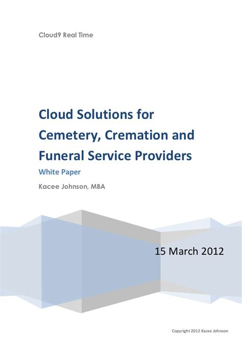 Mba Funeral Service by Cloud Solutions For Cemetery Cremation And Funeral