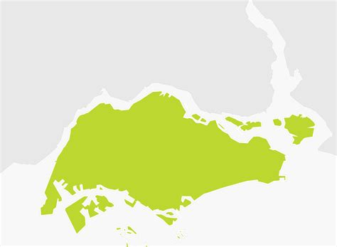 singapore on a map map of singapore tomtom