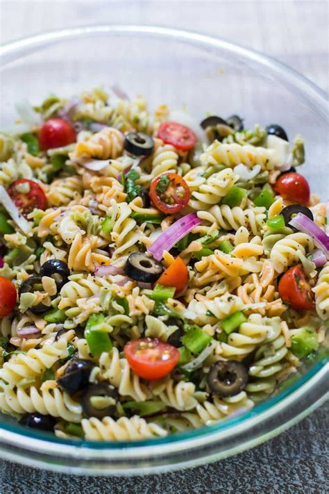 pasta salad vegetarian healthy vegetable pasta recipes