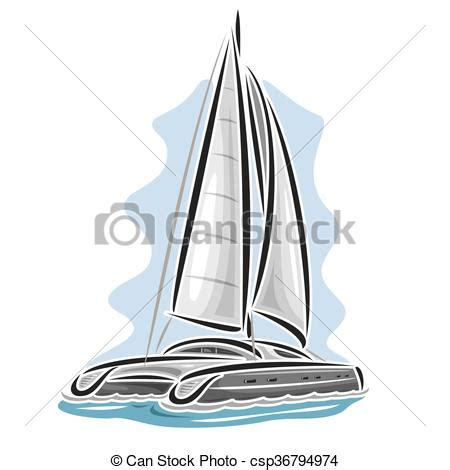catamaran vector vector logo sailing catamaran sailboat sailer sloop