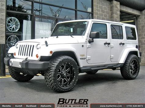 jeep wheels white jeep wrangler with 20in fuel maverick wheels cars