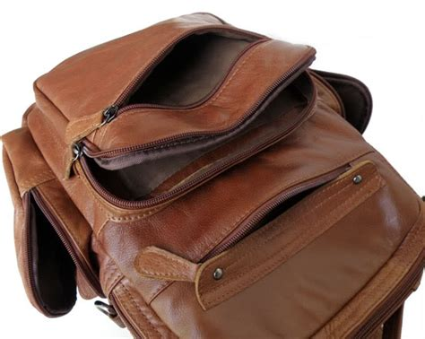 Backpack S D Lucky Sd8966 classic vintage leather s travel laptop messenger bag