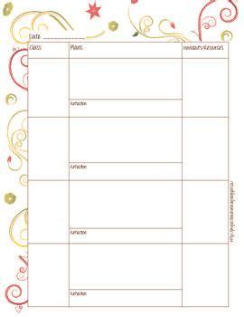 free homeschool lesson plan templates free lesson plan template homeschool idea board